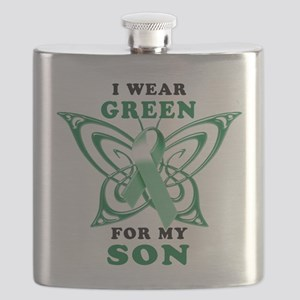 I Wear Green for my Son Flask