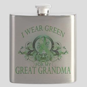 I Wear Green for my Great Grandma (floral) Fla