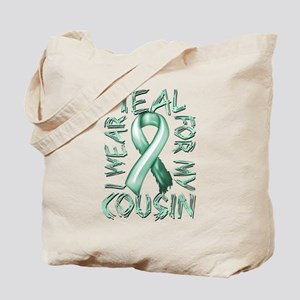 I Wear Teal for my Cousin Tote Bag