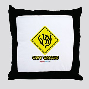 C. Diff Crossing Sign 03 Throw Pillow