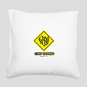 C. Diff Crossing Sign 03 Square Canvas Pillow