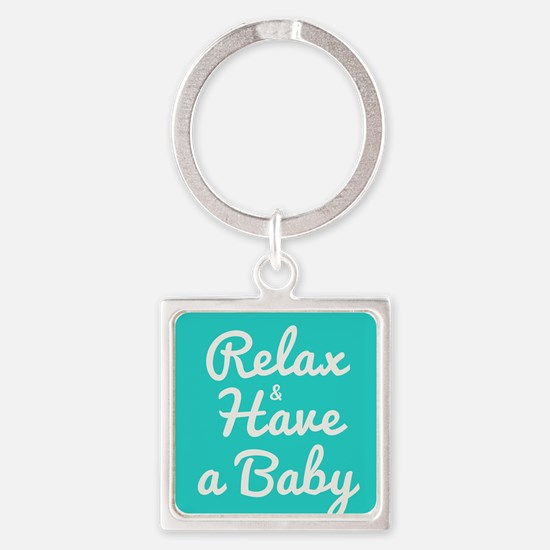 Funny Natural birth Square Keychain
