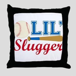 Lil Slugger Throw Pillow