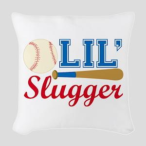 Lil Slugger Woven Throw Pillow