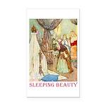 Sleeping Beauty Rectangle Car Magnet