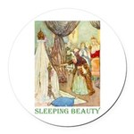 Sleeping Beauty Round Car Magnet