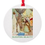 Sleeping Beauty Round Ornament