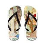 Sleeping Beauty Flip Flops