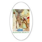 Sleeping Beauty Sticker (Oval 10 pk)