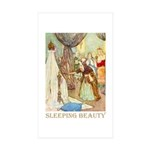 Sleeping Beauty Sticker (Rectangle 50 pk)