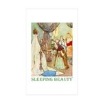 Sleeping Beauty Sticker (Rectangle 10 pk)