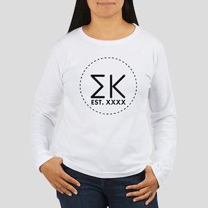 Sigma Kappa Circle Women's Long Sleeve T-Shirt