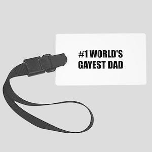 Worlds Gayest Dad Luggage Tag