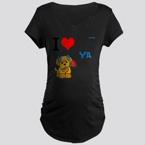 OYOOS Love Dog design Maternity Dark T-Shirt