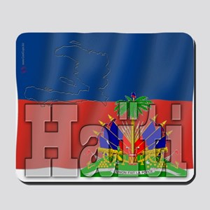 Silky Flag of Haiti (French) Mousepad