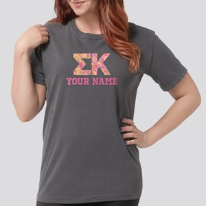 Sigma Kappa Letters Womens Comfort Colors Shirt