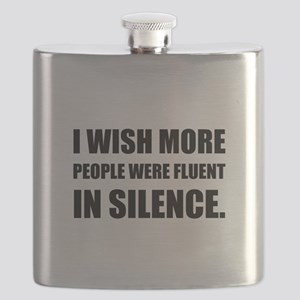 More People Fluent In Silence Flask