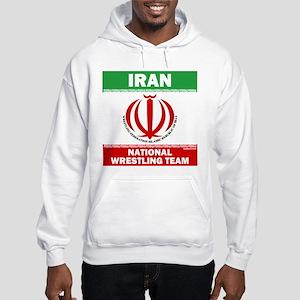 Iran National Wrestling Team (white) Hooded Sweats