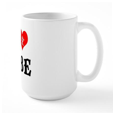 I heart Kobe Large Mug