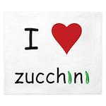 I Love Zucchini King Duvet