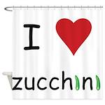 I Love Zucchini Shower Curtain