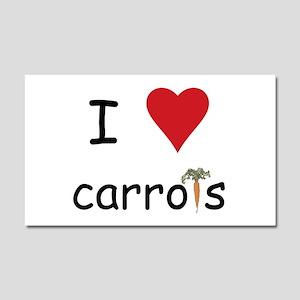 I Love Carrots Car Magnet 20 x 12