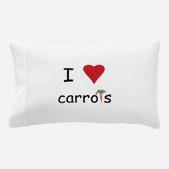 I Love Carrots Pillow Case
