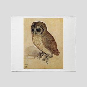 Durer The Little Owl Throw Blanket