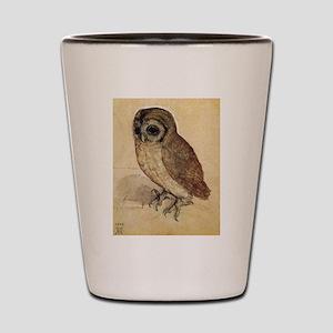 Durer The Little Owl Shot Glass