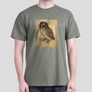 Durer The Little Owl Dark T-Shirt