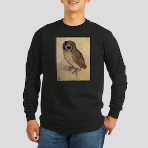 Durer The Little Owl Long Sleeve Dark T-Shirt