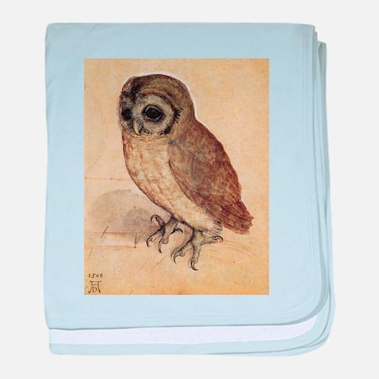 Durer The Little Owl baby blanket