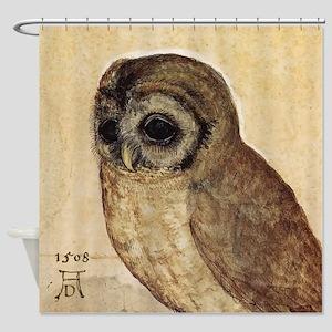 Durer The Little Owl Shower Curtain