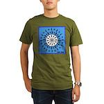 OYOOS Blue Moon design Organic Men's T-Shirt (dark