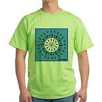 OYOOS Blue Moon design Green T-Shirt