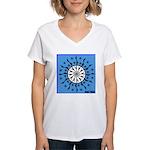 OYOOS Blue Moon design Women's V-Neck T-Shirt