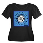 OYOOS Blue Moon design Women's Plus Size Scoop Nec