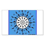 OYOOS Blue Moon design Sticker (Rectangle 50 pk)