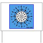 OYOOS Blue Moon design Yard Sign