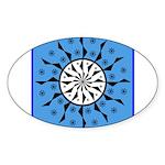OYOOS Blue Moon design Sticker (Oval)