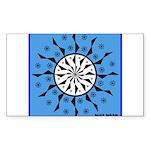 OYOOS Blue Moon design Sticker (Rectangle)