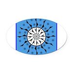 OYOOS Blue Moon design Oval Car Magnet