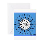 OYOOS Blue Moon design Greeting Cards (Pk of 20)
