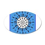 OYOOS Blue Moon design 35x21 Oval Wall Decal
