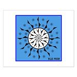OYOOS Blue Moon design Small Poster