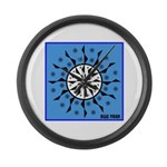OYOOS Blue Moon design Large Wall Clock