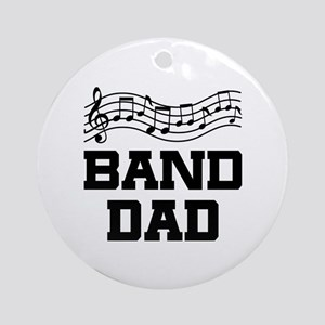 Band Dad Music Staff Ornament (Round)