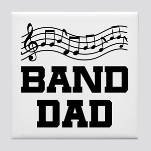 Band Dad Music Staff Tile Coaster
