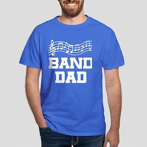 Band Dad Music Staff Dark T-Shirt