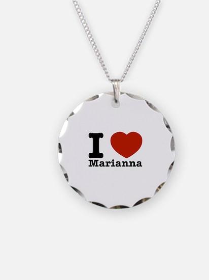 I Love Marianna Necklace Circle Charm